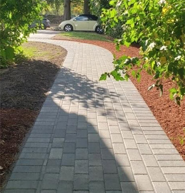 Hardscape patio walkway design and installation Attleboro MA